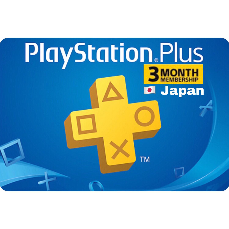 Playstation Plus (PSN Plus) Japan 3 Months