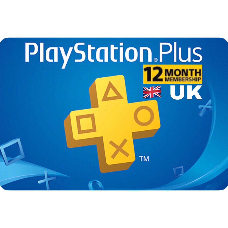 Playstation Plus (PSN Plus) UK 12 Months