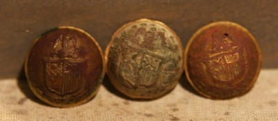 2/19 - PRICE JUST REDUCED 33% - THE SIEGE OF PETERSBURG - Three New York Cuff Button Faces