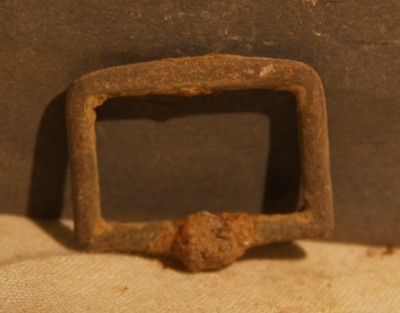 JUST ADDED ON 5/2 - THE BATTLE OF ANTIETAM / MILLER'S CORNFIELD - Small Brass Accoutrement Buckle - Found between 1975 and 1979