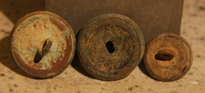 JUST ADDED ON 6/19 - THE BATTLE OF GETTYSBURG / AREA BEHIND THE ROUND TOPS - 3 Button Backs