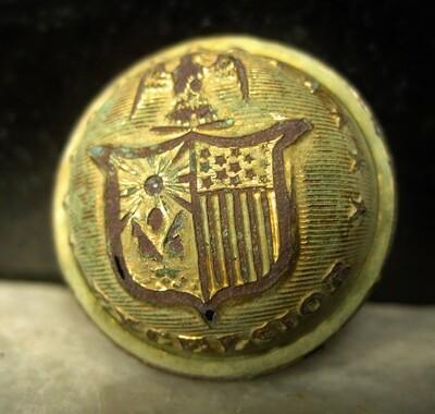 RELISTED ON 1/8  - THE BATTLE OF GETTYSBURG  / DEVIL'S DEN /ROSENSTEEL COLLECTION - New York Coat Button