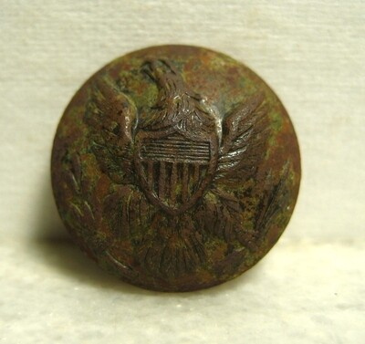 JUST ADDED ON 12/11 - THE BATTLE OF SHILOH / MORNING ATTACK / AREA OF OVERRUN CAMPS ON THE UNION LEFT - Nice Eagle Coat Button
