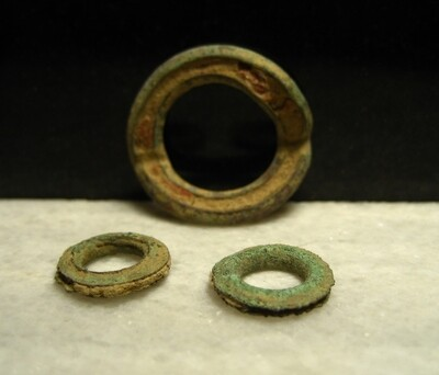JUST ADDED ON 1/15 - THE BATTLE OF ANTIETAM / DUNKER CHURCH - Three Brass Grommets from Ponchos or Tents