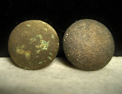 JUST ADDED ON 3/24 - THE BATTLE OF ANTIETAM / DUNKER CHURCH - Two Cuff Sized Coin or Flat Buttons