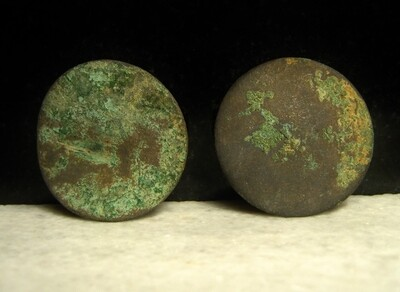 JUST ADDED ON 3/24 - THE BATTLE OF ANTIETAM / DUNKER CHURCH - Two Coat Sized Coin or Flat Buttons