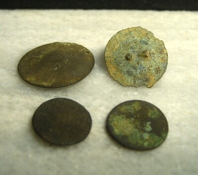 JUST ADDED ON 4/8 - THE BATTLE OF ANTIETAM / DUNKER CHURCH - Three Coin/Flat Buttons and Button Back