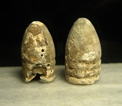 JUST ADDED ON 4/22 - THE BATTLE OF CHANCELLORSVILLE - Two .58 Caliber Bullets - Appear to be Fire Damaged