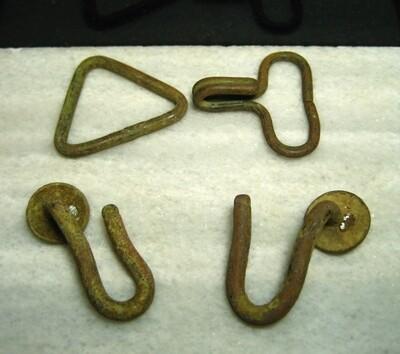 JUST ADDED ON 5/8- STAFFORD, VIRGINIA UNION WINTER CAMPS - Full Set of Knapsack Hardware Brass (Hooks)