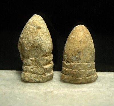 JUST ADDED ON 6/8 - THE BATTLE OF FREDERICKSBURG / AREA OF MEADE'S ATTACK - Two Fired Bullets - found April, 1971