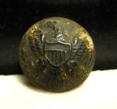 JUST ADDED ON 6/8 - THE BATTLE OF SHILOH / MORNING ATTACK / AREA OF OVERRUN CAMPS ON THE UNION LEFT - Very Nice Eagle Coat Button
