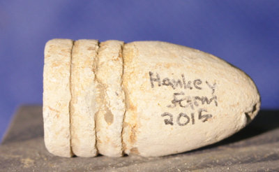 3/3 - PRICE REDUCED 30% - GETTYSBURG / RODES CONFEDERATE DIVISION HOSPITAL / THE HANKEY FARM - .58 Caliber Swage Bullet with Relic Hunter's ID