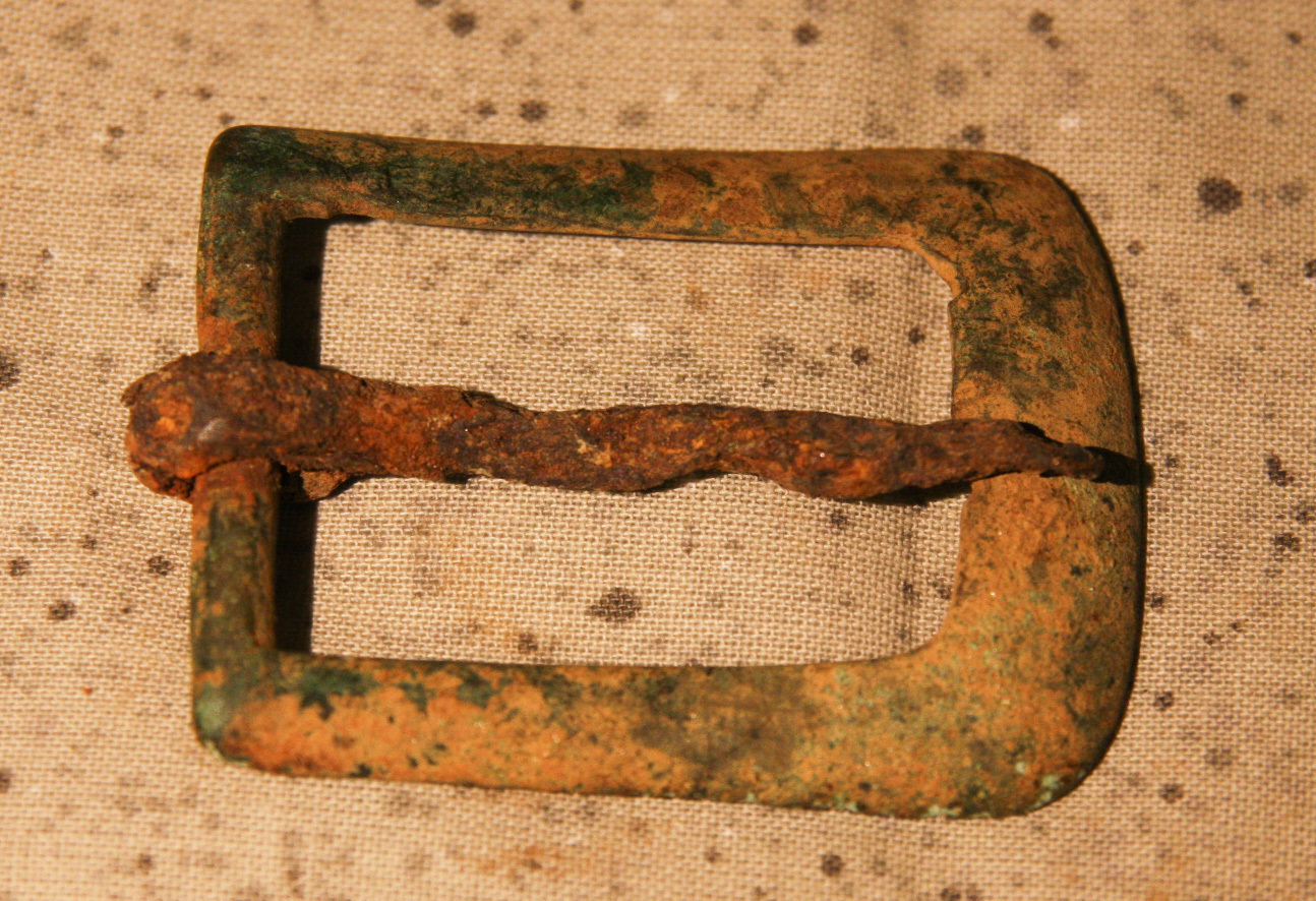JUST ADDED ON 5/2 - ANTIETAM CAMPAIGN / WHITE'S FORD - Brass Buckle with Hand-Forged Iron Tongue