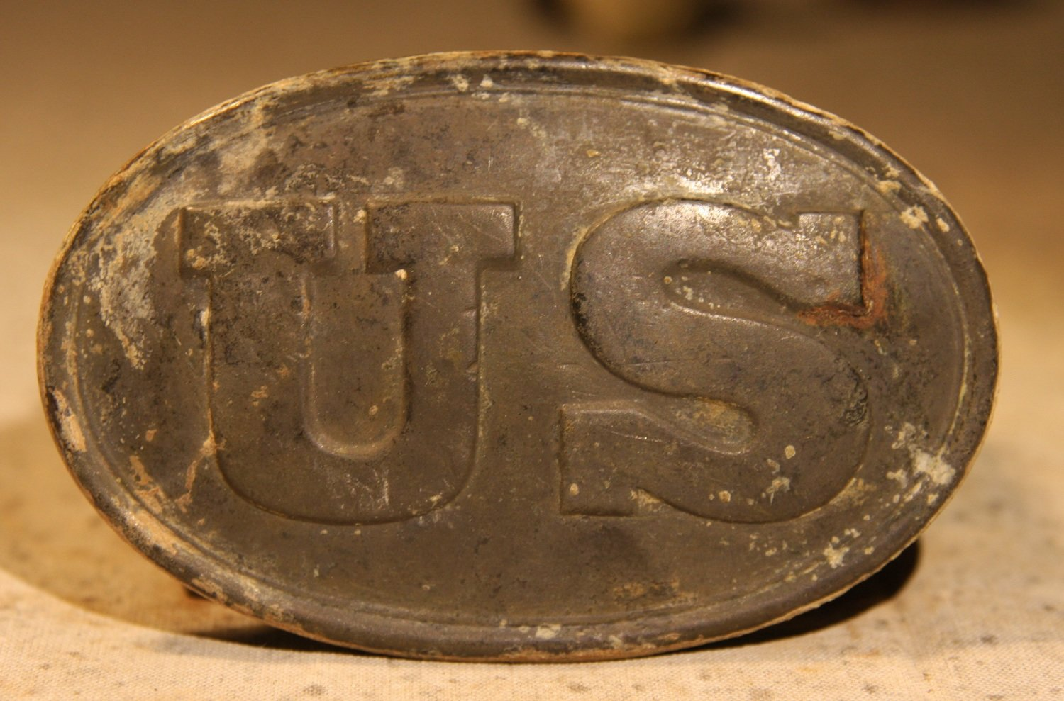 JUST ADDED ON 12/5 - GETTYSBURG - DEVIL'S DEN AREA - ROSENSTEEL FAMILY - Very Nice U.S. Box Plate with One Hook
