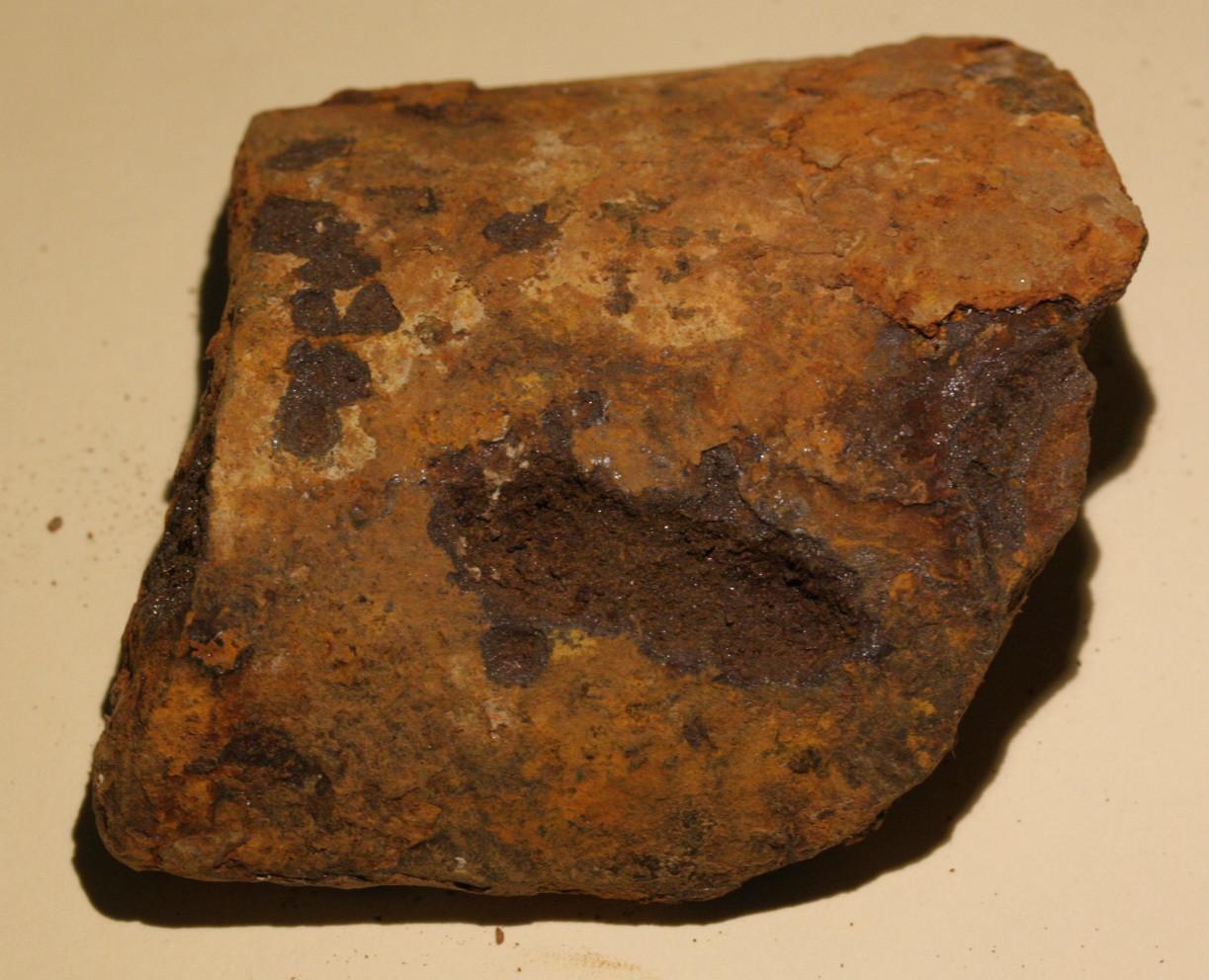 JUST ADDED ON 9/28 - GETTYSBURG - CEMETERY RIDGE / SEDGWICK MONUMENT / N.J. MONUMENT - ROSENSTEEL FAMILY - Large Artillery Shell Fragment