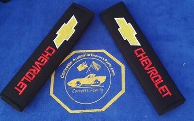 2pcs/set Universal Cotton Seat belt Shoulder Pads covers emblems for CHEVROLET