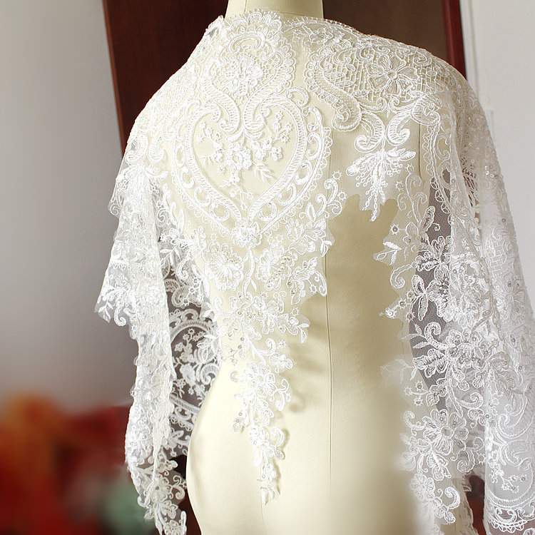 Wide Embroidered Lace with sequins - LWL01 [Pre-Order]
