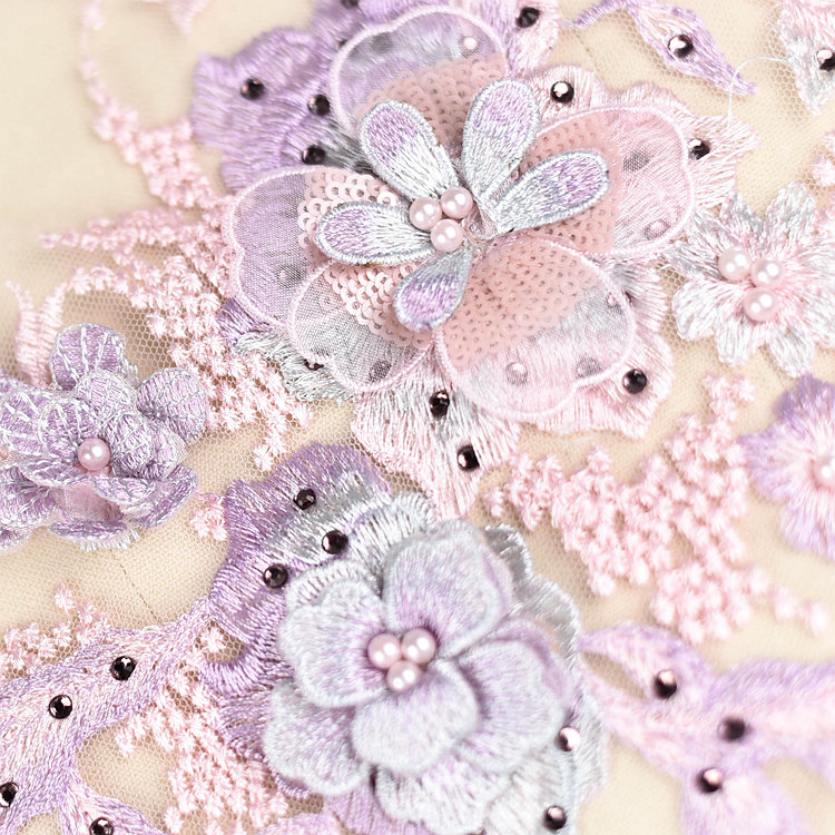 Emroidered Beaded 3D Patch Lace - LP04 [Pre-Order]