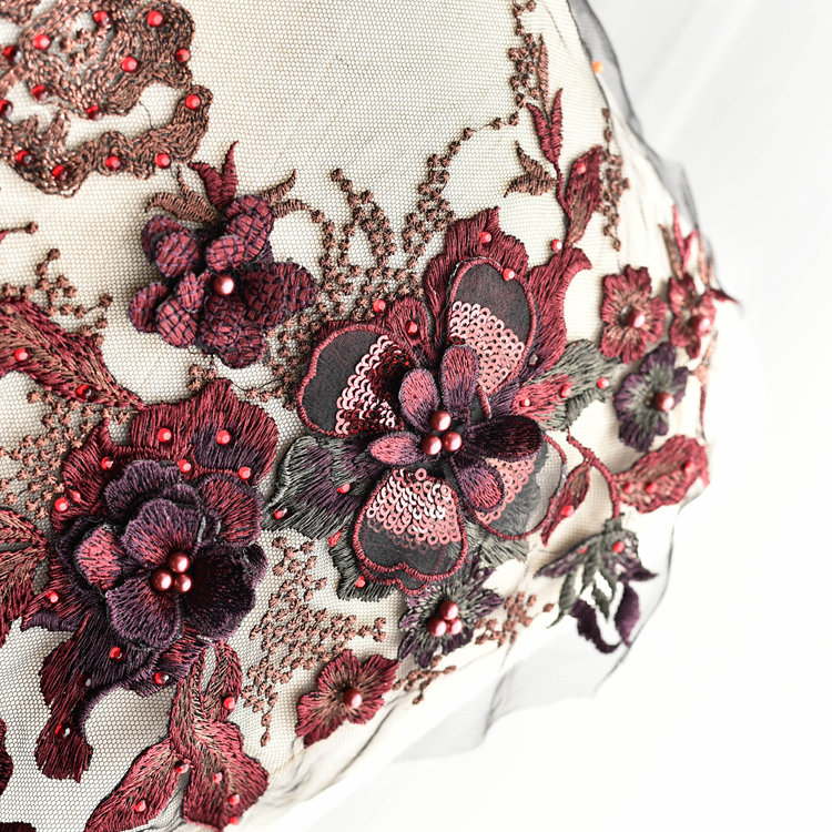 Emroidered Beaded 3D Patch Lace - LP06 [Pre-Order]