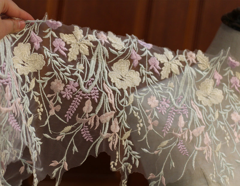 Embroidered Wide Border Lace - GBL01 [Pre-Order]