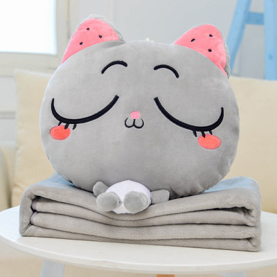 Meow Grey Sleep Pillow Blanket 2 in 1 [Pre-Order]