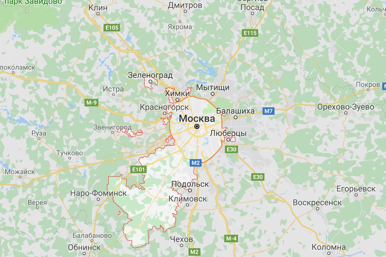 Выезд по Москве и Московской области