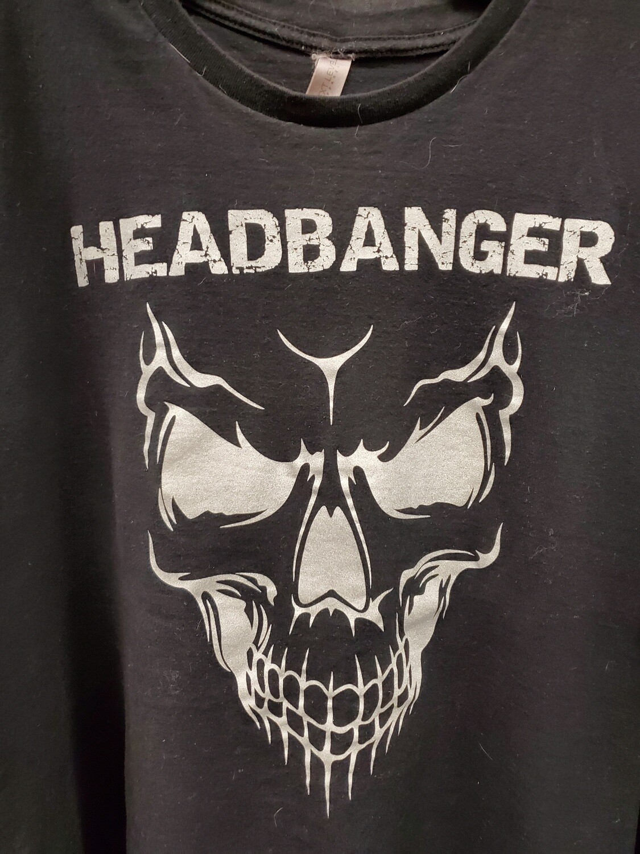 Headbanger Smiling Skull Men's T-Shirt