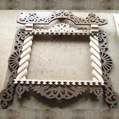 Декоративный резной наличник для окна