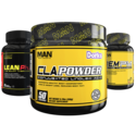 MAN Sports 24 HR Burn Stack Lean PhD, CLA Powder, & REM PM