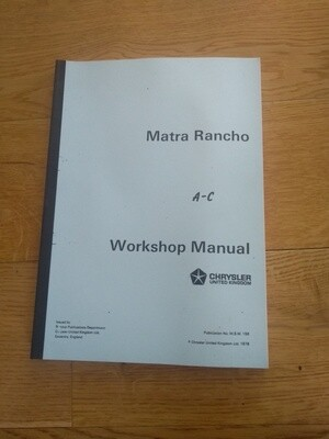 Workshop Manual Rancho