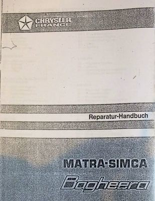 Workshop Manual Matra Bagheera German