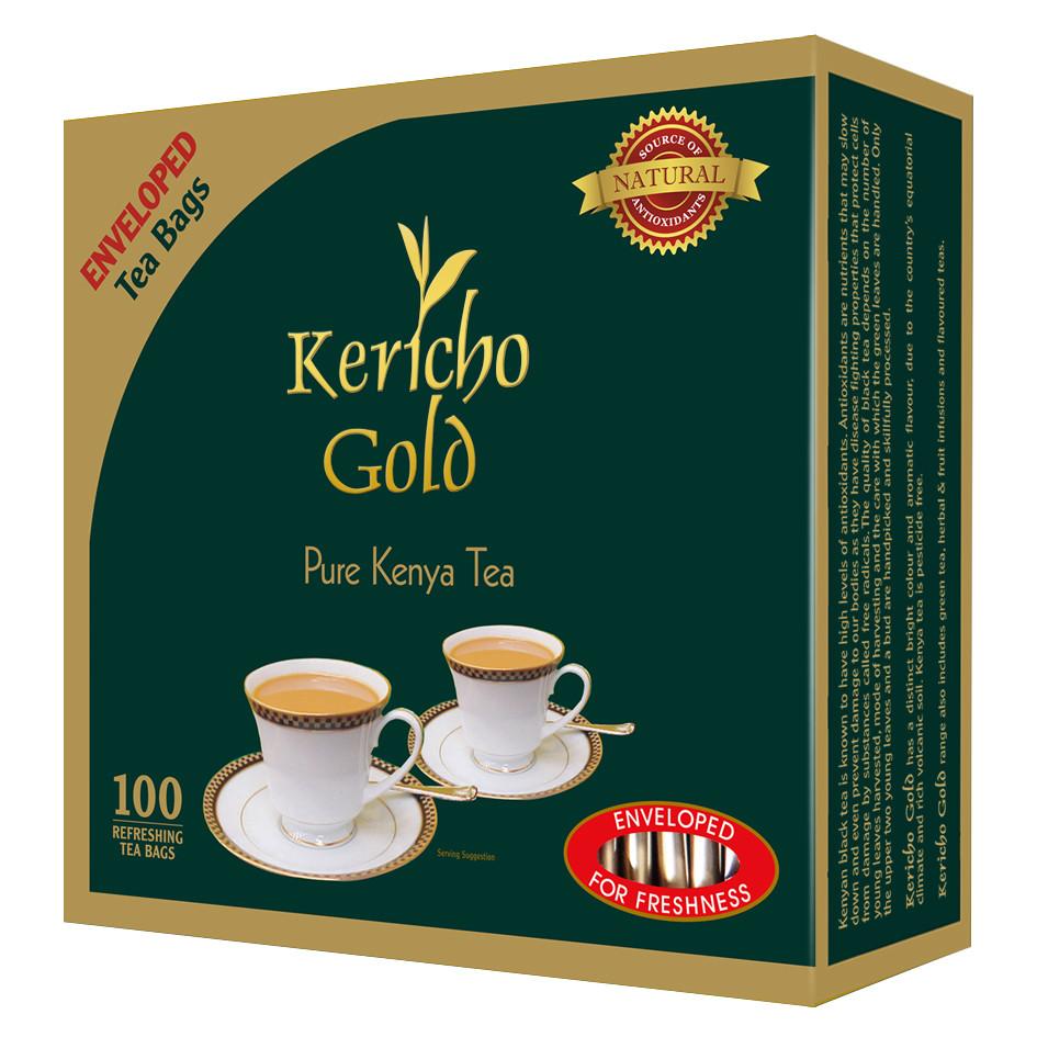 Kericho gold enveloped tea bags from Kenya-100TBS