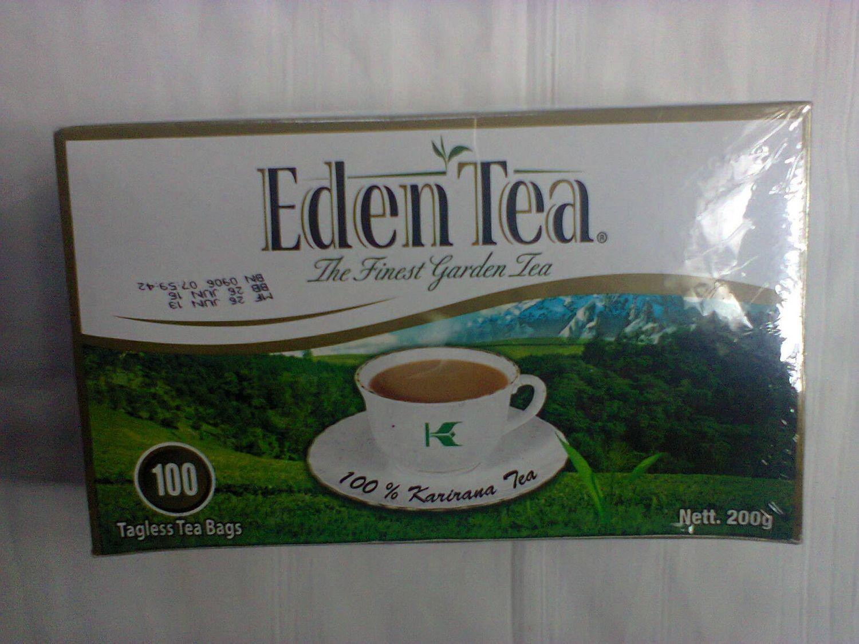 Eden tea bags-tagless tea bags from Kenya(100TBS)