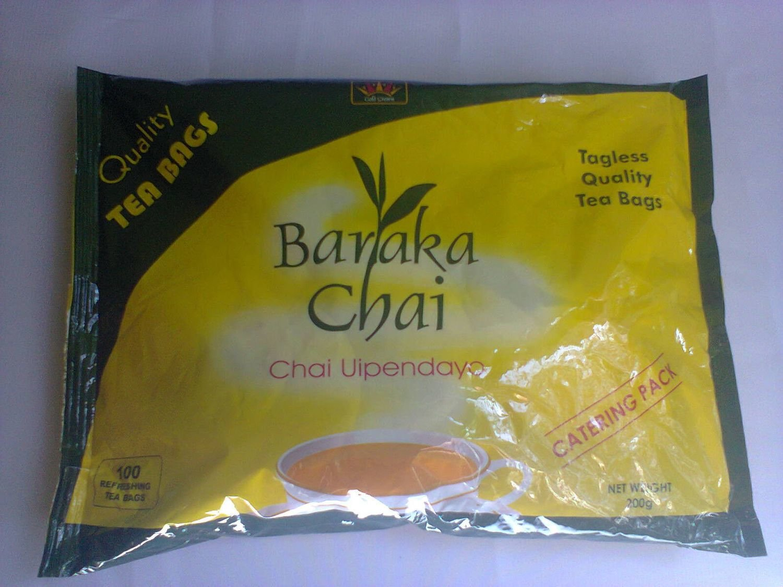 Baraka Chai catering pack-100 tagless tea bags