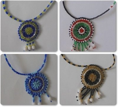 4 pieces Masai beads necklaces-MBN002