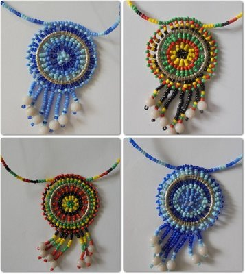 4 pieces Masai beads necklaces-MBN005