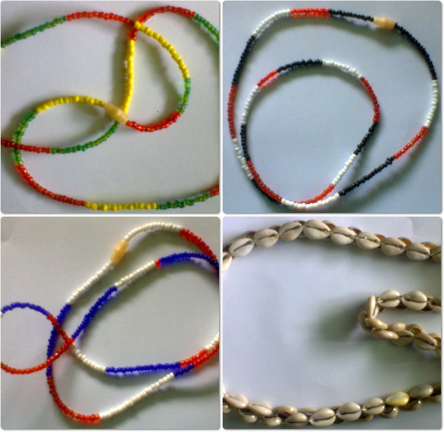 4 pieces Masai beads necklaces-MBN010