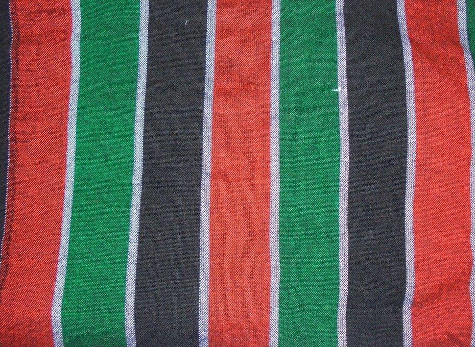 Kenya flag striped Masai shuka fabric