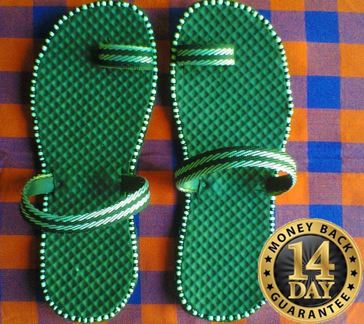 Authentic Kenya beaded Masai sandals flip flops-U.S size 11.0 UNISEX