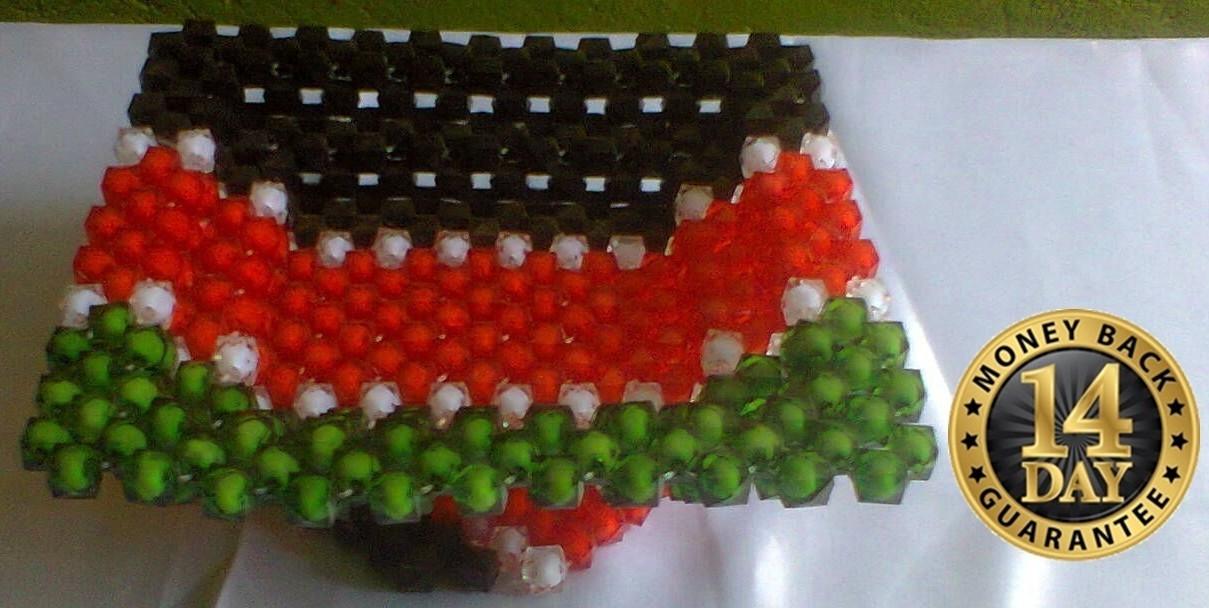 Kenya multicolored beaded tray