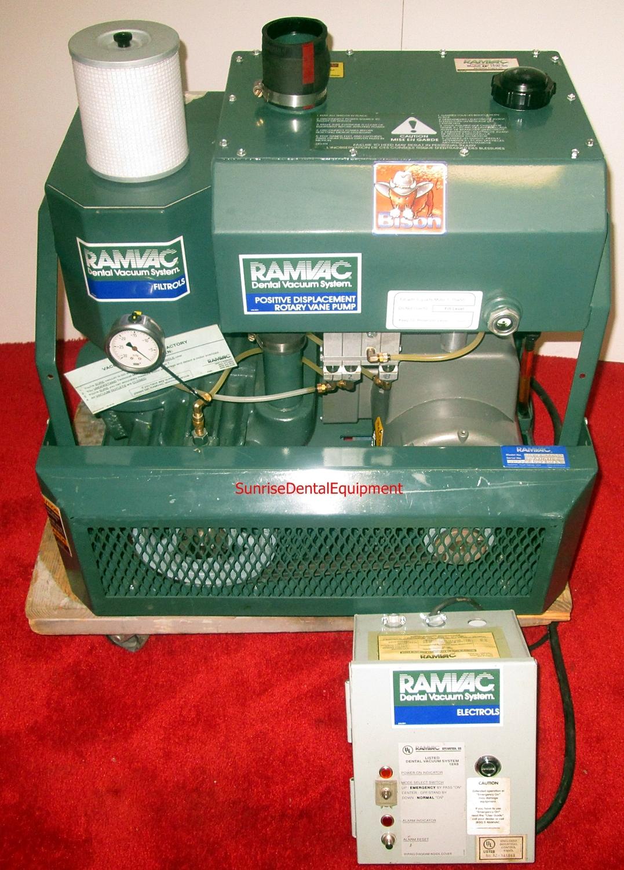 RamVac Bison Dental Dry Vacuum System w/ Tank
