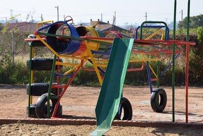 Bricks to build a playground