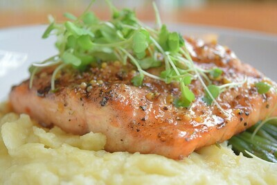 PWB Mustard-Honey & Dill Glazed Baked Salmon