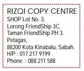 Chop Biasa RS11 33 mm x 40 mm