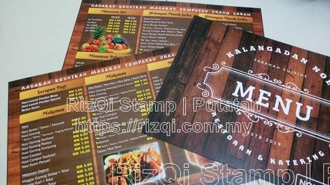 Design dan Cetak Menu Restoran