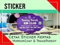 Cetak Sticker Kertas (MirrorKote)