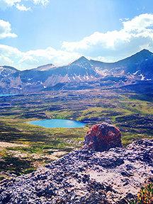 Mountain Ridges, Maligne Pass Trail, Fine Art Print