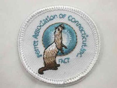 Ferret Association of Connecticut Logo Iron On Patch