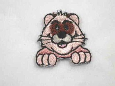 Cute Ferret Face Iron On Patch