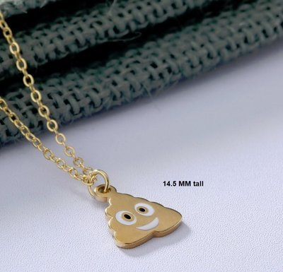 Poop Emoji Necklace